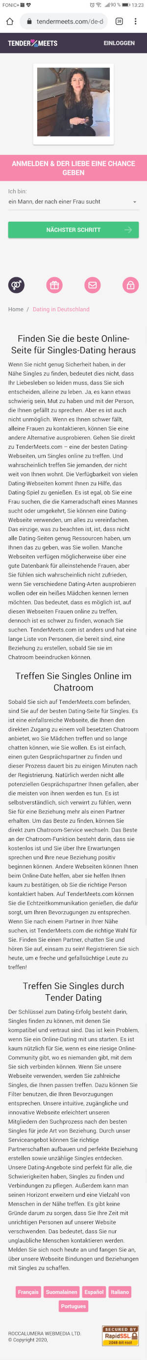 long mobile Screenshot of Tendermeets article